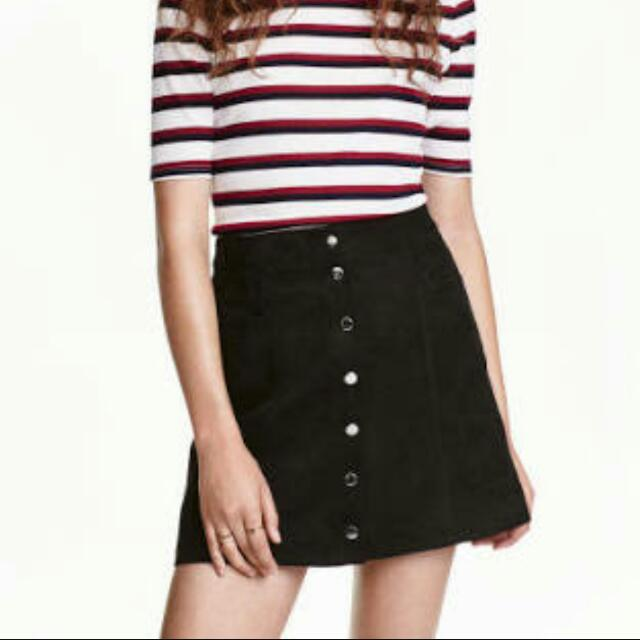 H&M A Line Black Skirt