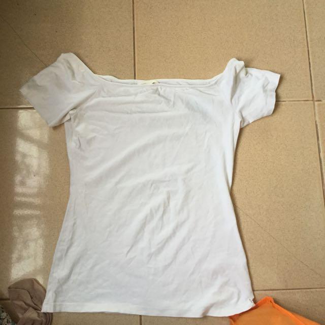 H&M White Off Shoulder