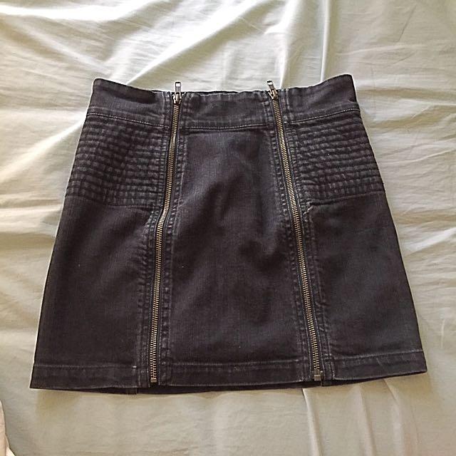 H&m Zipper Skirt