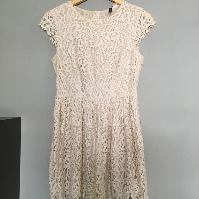 Hnm White Lace Dress