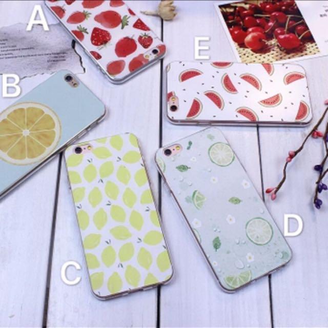 清新水果系浮雕i6(s)/plus,i7手機殼