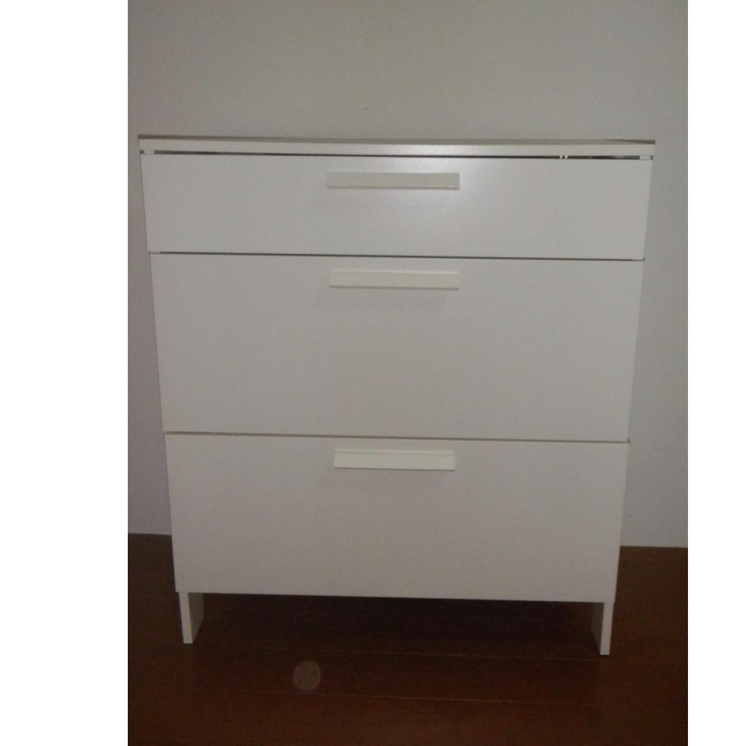 【近全新】IKEA 抽屜櫃 / 3抽屜 邊櫃 3斗櫃 收納櫃 衣櫃 床頭櫃