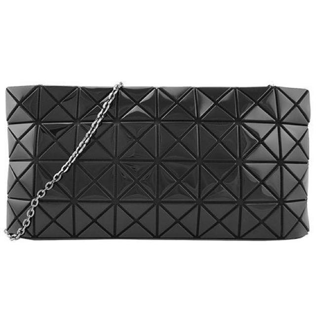 ISSEY MIYAKE BAOBAO Bag 鋁金鏡面黑色鍊帶斜背包