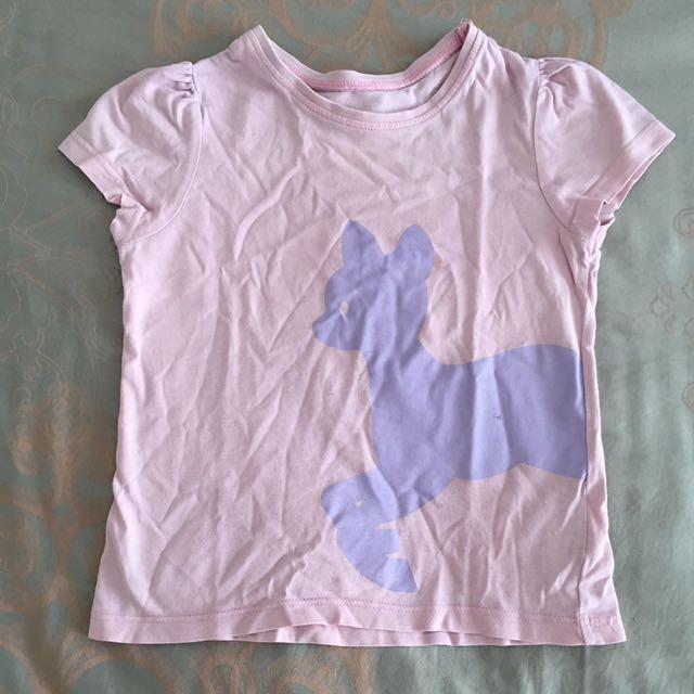 Kids Mothercare Shirt Baju Kaos Anak Pink Deer Size 18-24 Months