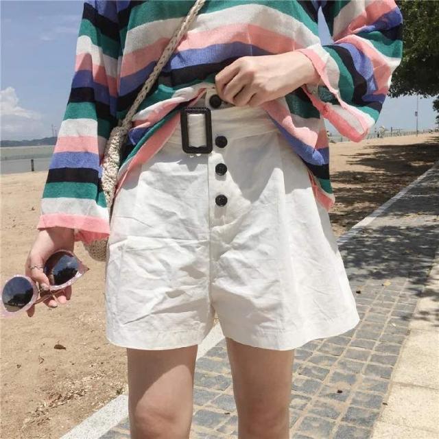 5e88e73fb036 Korean Fashion Summer Chic Style Simple Big Single Lane Button ...