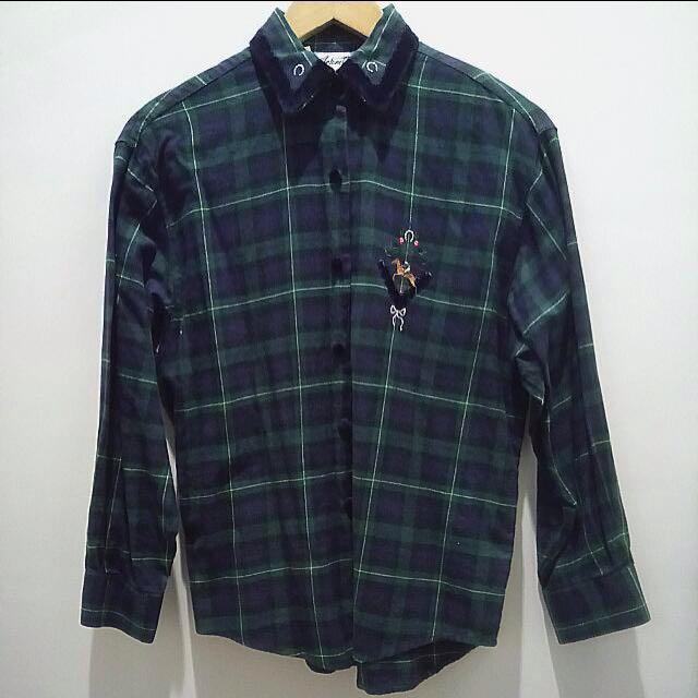 Korean Plaid Long sleeves