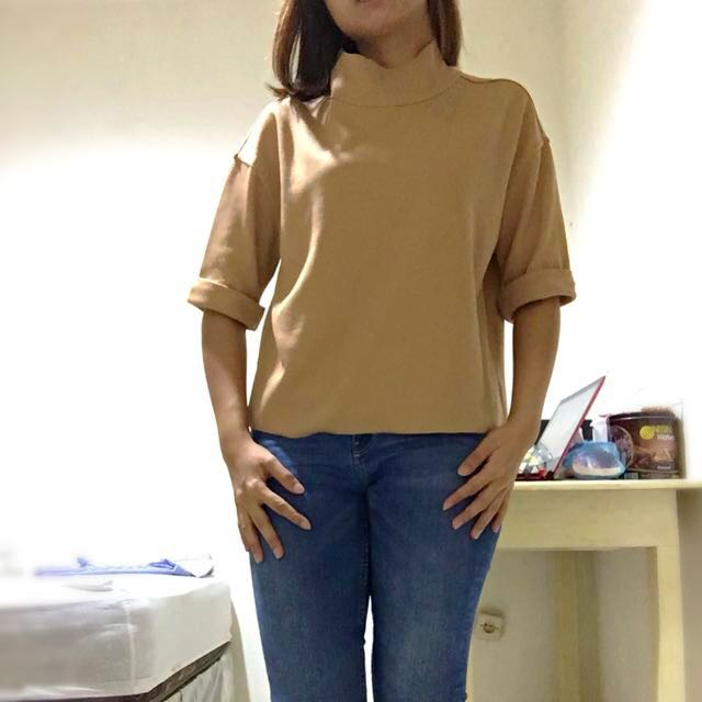 Magnolia Cream Turtleneck Top