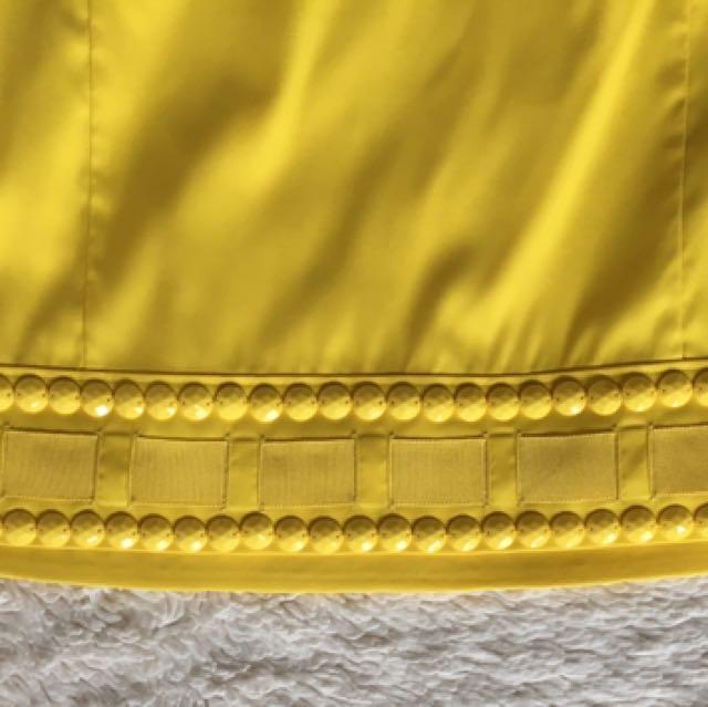 PRICE DROP‼️‼️ MARCIANO bright Yellow Mini Skirt