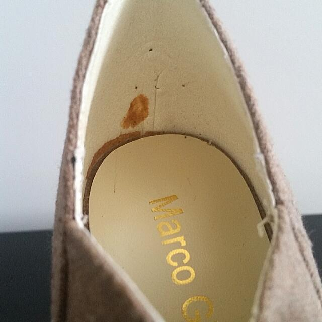 Marco Gianni Brown Peeptoe High Heel Shoes, Size 6