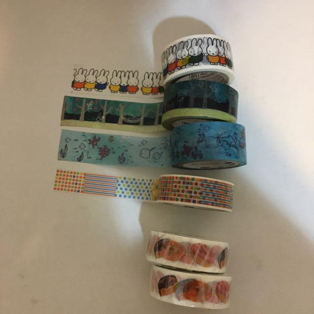 Mas*T miffy 甜甜圈 海洋 森林 拼貼 紙膠帶