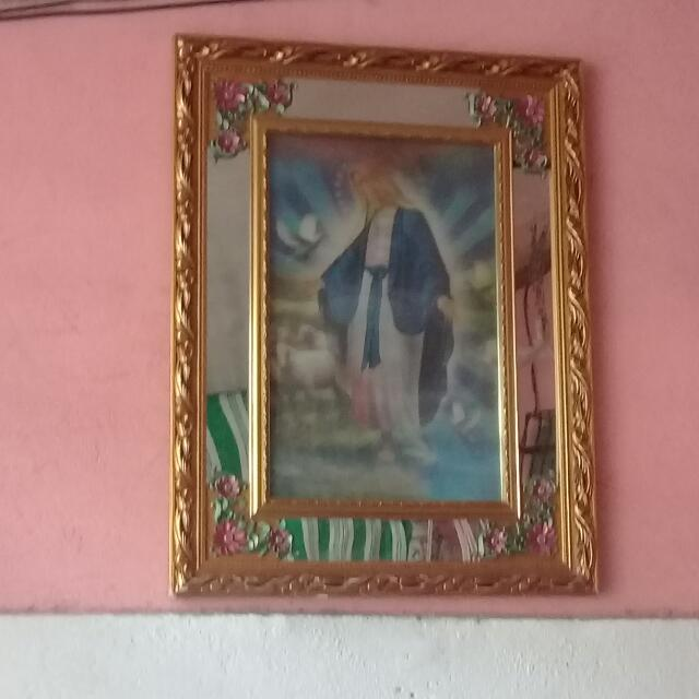 Mirror With JESUS and Mother MARRY