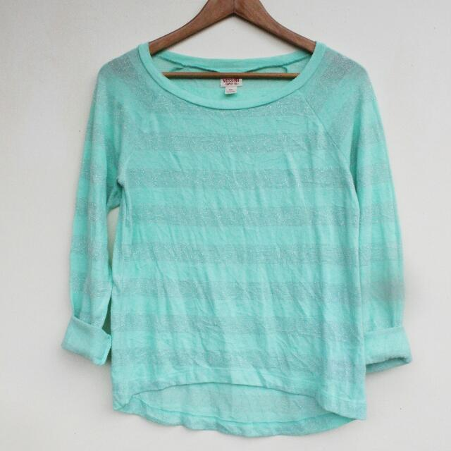 MOSSIMO ▪ mint green crop top
