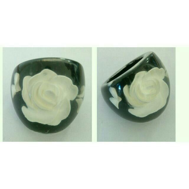 New Statement Resin 3D Flower / Rose Ring
