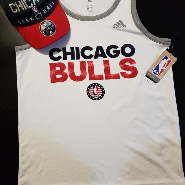 Official NBA Chicago Bulls Adidas Tanktop Jersey And Cap