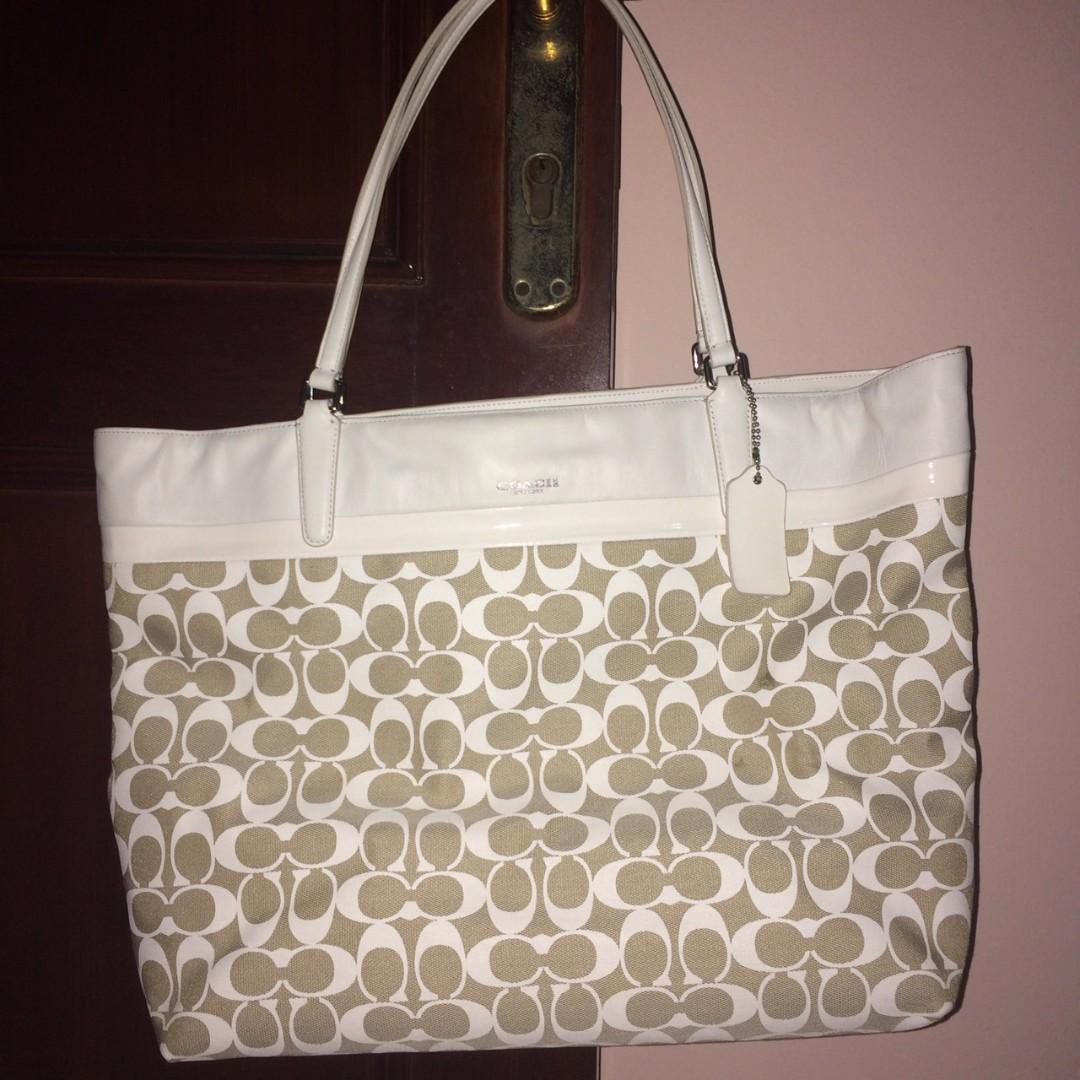 [ORI] Tas COACH White Handbag