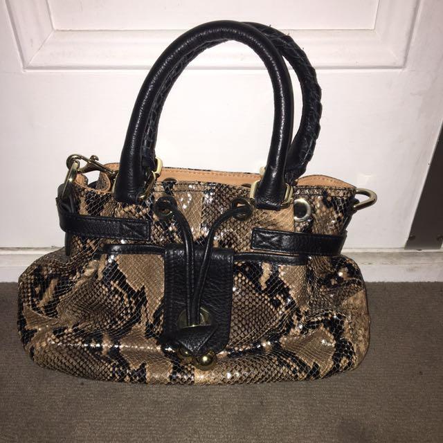OROTON BAG - Rrp $800 Barely Used Snake Skin Handbag