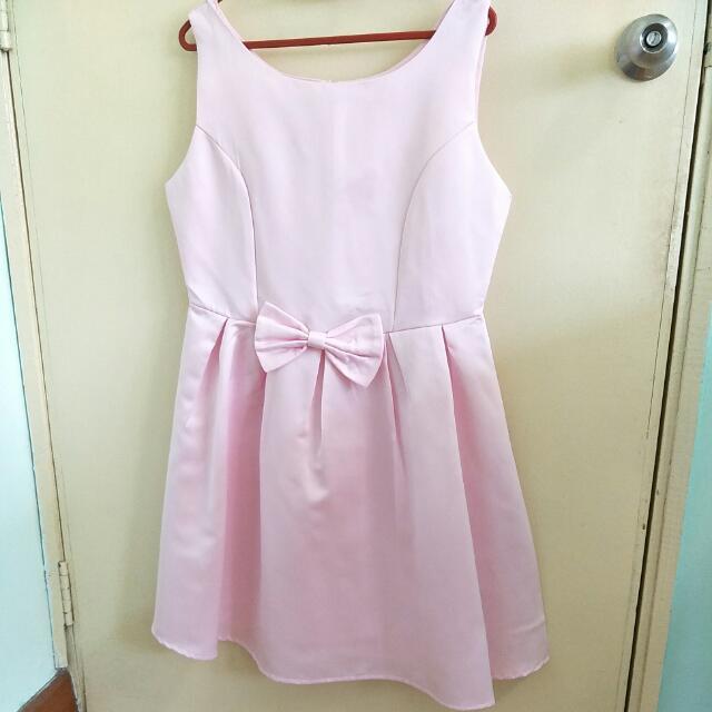 ❤ Pastel Pink Cute Ribbon Sleeveless Dress