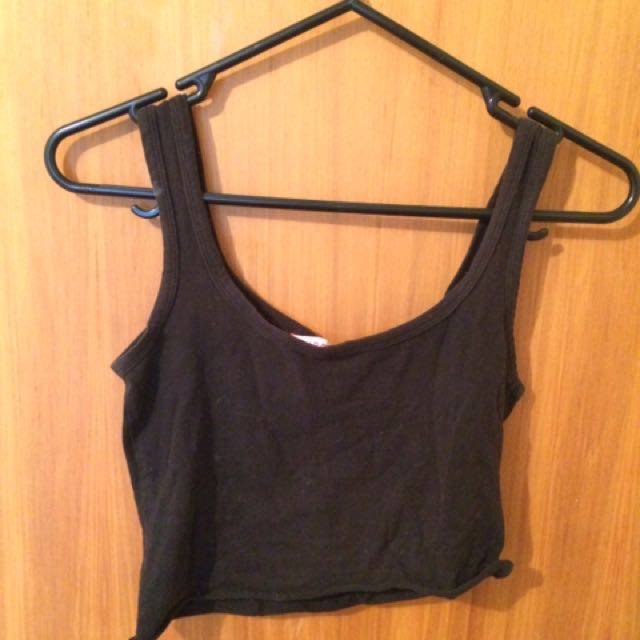 Plain Black Crop Top