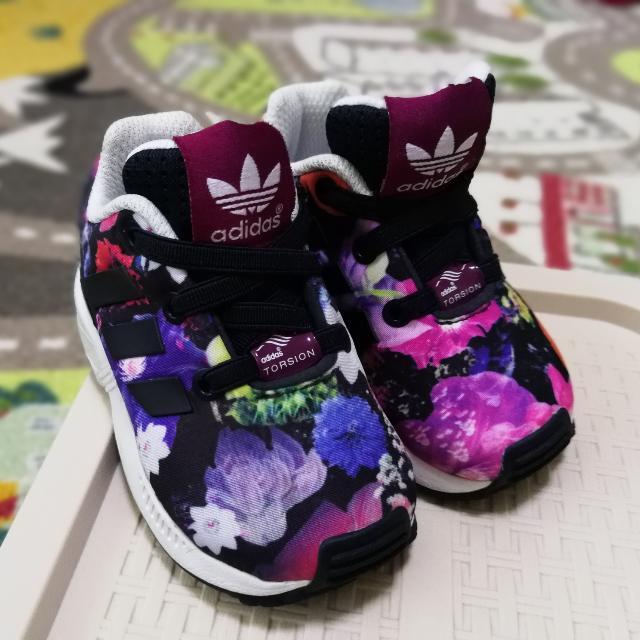 quality design fdd7f abfd0 Preloved Adidas ZX Flux Torsion Infant Multi Color Floral ...