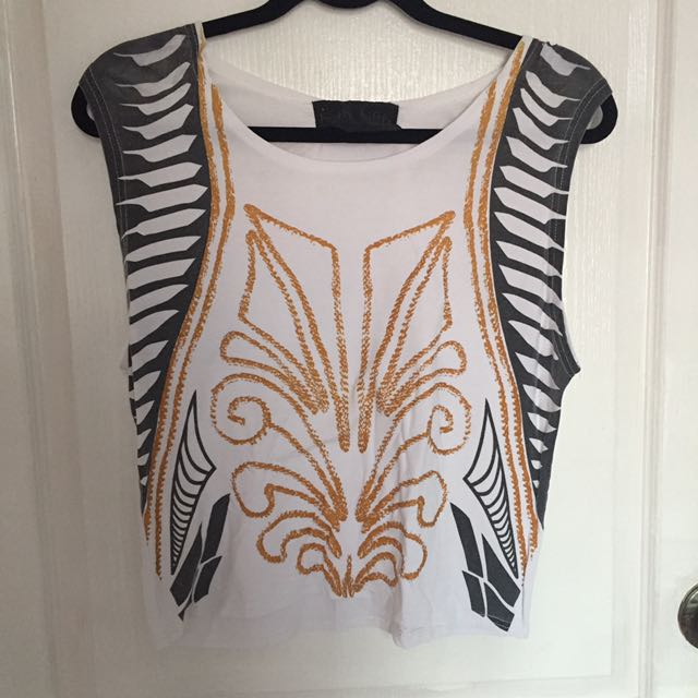 Rubberized Detail Printed Top