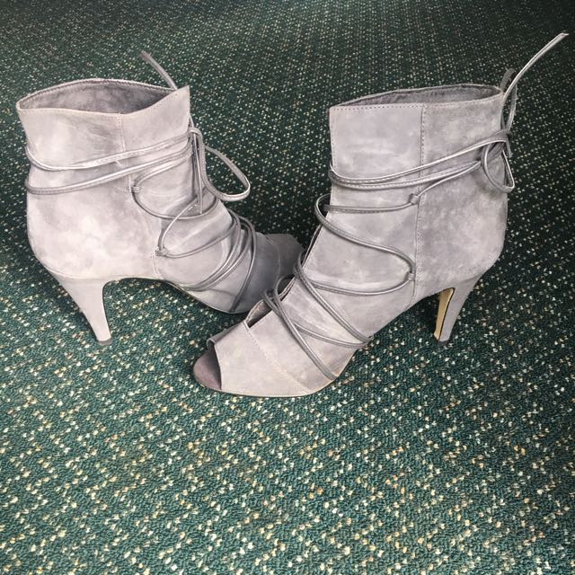 Pulp Lace Up Detail Ankle Boots