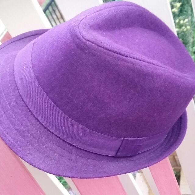 Purple Wool Blend Fedora