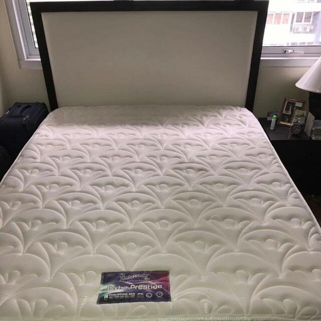 Queen Garney Bed with Ambassador Mattress  Original price: 42,400.00 Selling at P25,000.00 Pick-up Only RFS: Owner will migrate to US