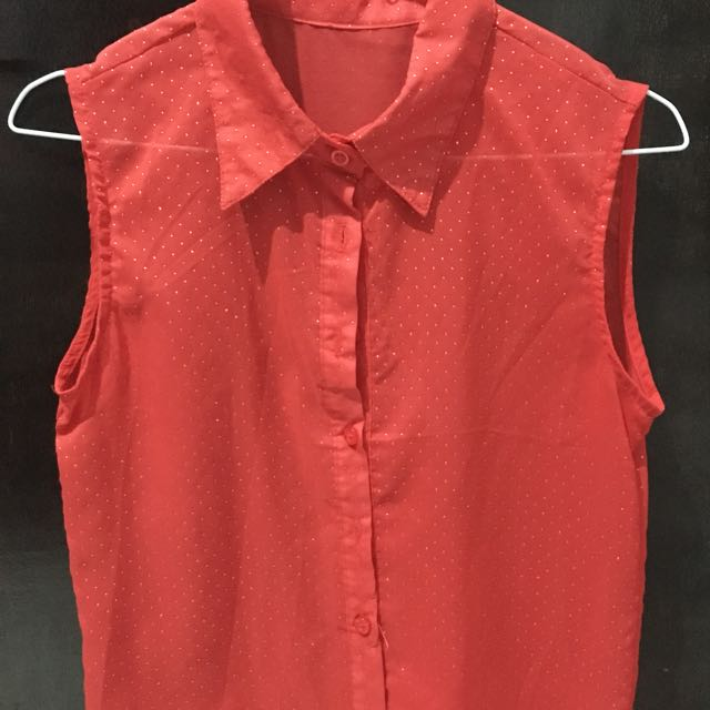 Red Dot Blouse