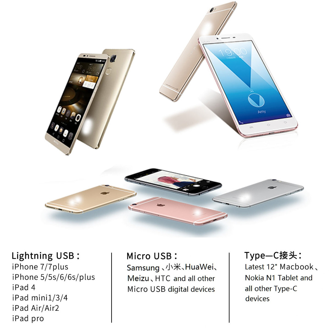 Remax Gplex 3 In 1 Data Cable Lightning Usb Micro Type C Apple Gold Mobile Phones Tablets Tablet Accessories On Carousell