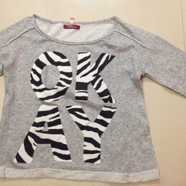 Repriced - Bershka Sweater Abu Abu