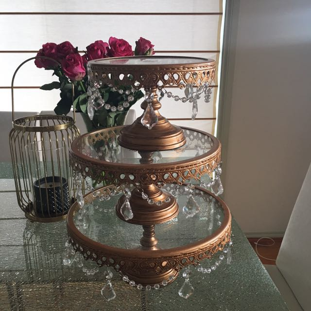 Rose Gold Chandelier Cupcake Stand