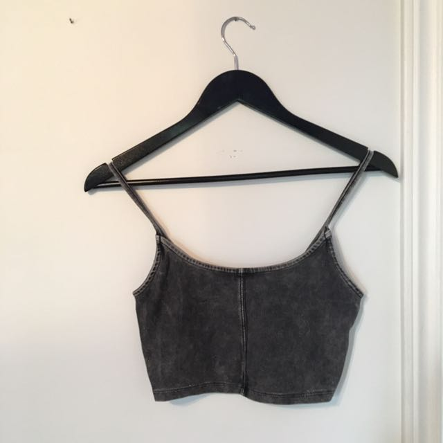 Rustic Black Crop Top