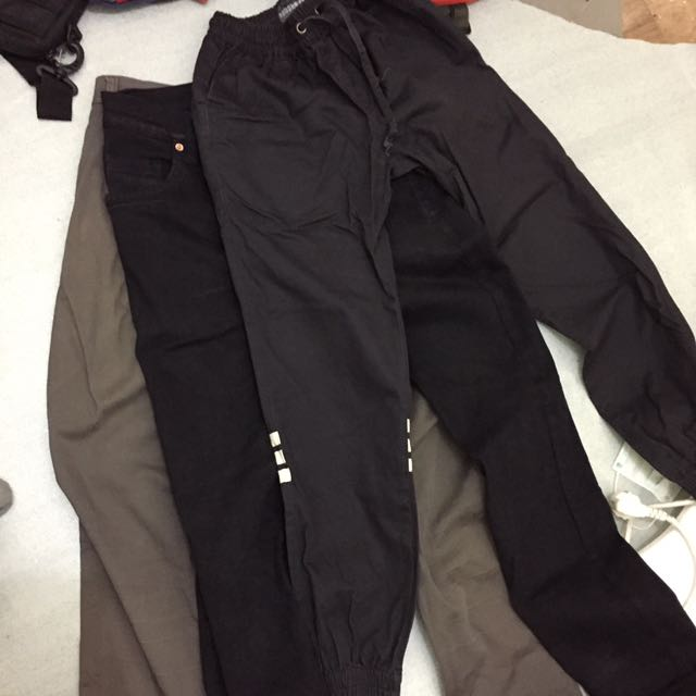 SALE 3 Celana 100ribu Jeans Black Denim, Jogger Pants, Chino