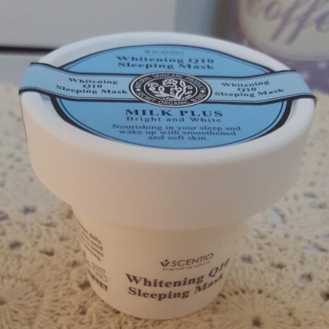 泰國Scentio牛奶Q10美白晚安面膜