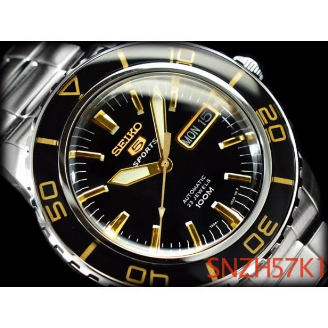 45654202b Seiko 5 Men's Sports Automatic Watch SNZH57 SNZH57K1 SNZH57K Fifty Five  Fathoms, Men's Fashion, Watches on Carousell