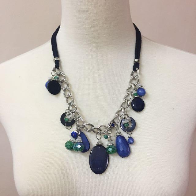 Semi Previous Stone Necklace