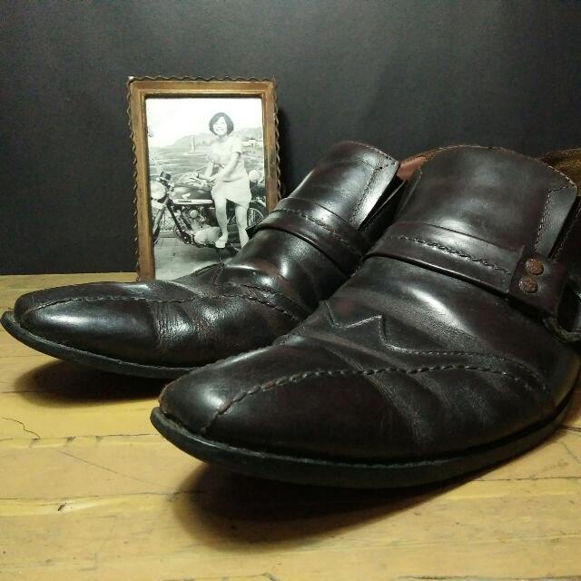 Sepatu Pantofel Jadul Handmade Kulit