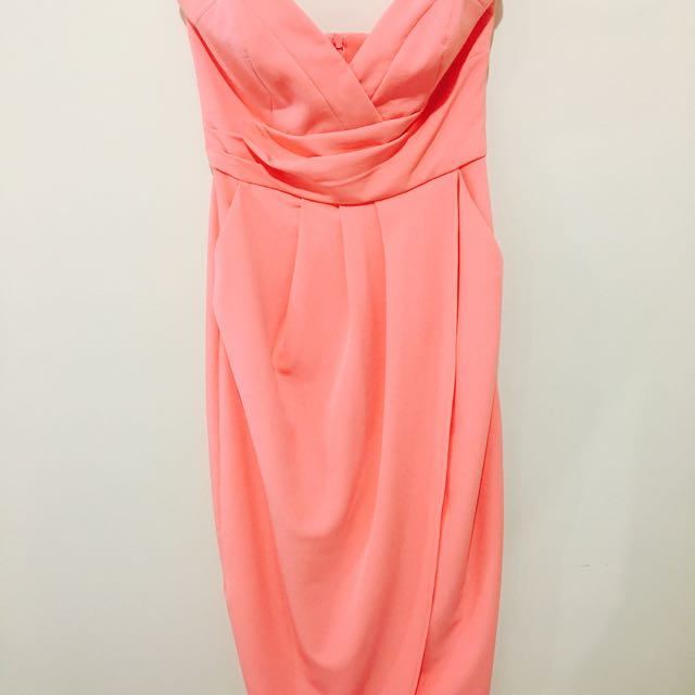 Sheike Pink Strapless Dress Size 8