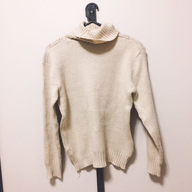 (size - 10) Nobrand high-neck knit