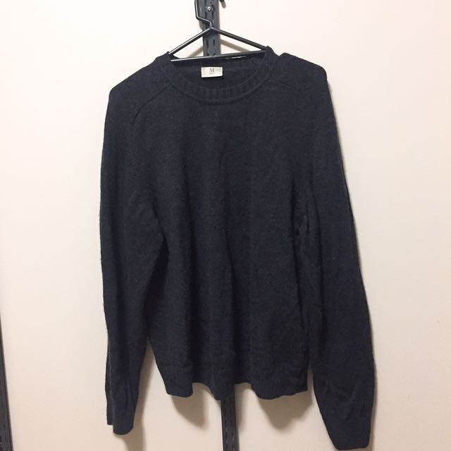 (size - m) Nobrand charcoal grey knit