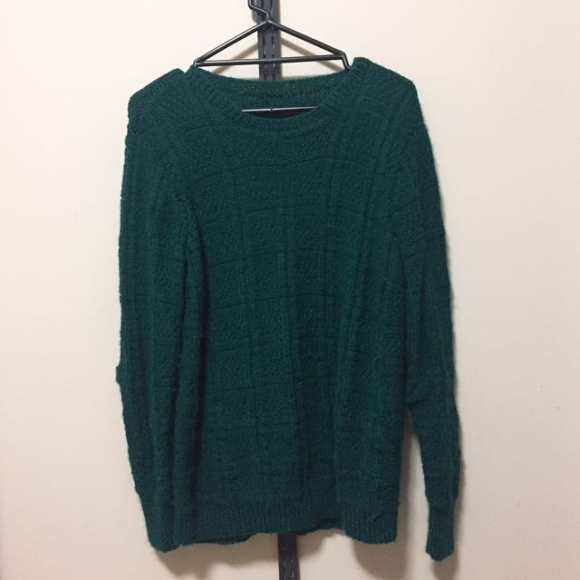 (size - m) Nobrand green knit