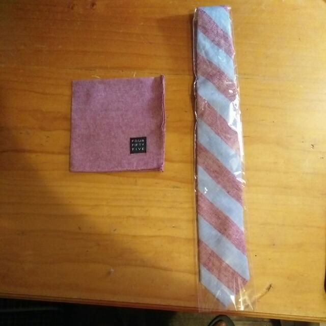 New Sprezza Tie And 'Four Fifty Five' Pocket Square! Price Negotiable!!