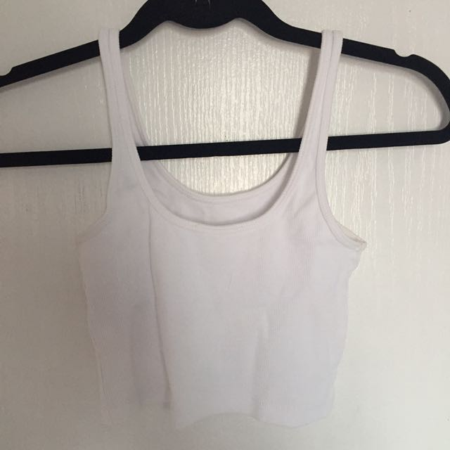 Stradivarius Ribbed Crop Top