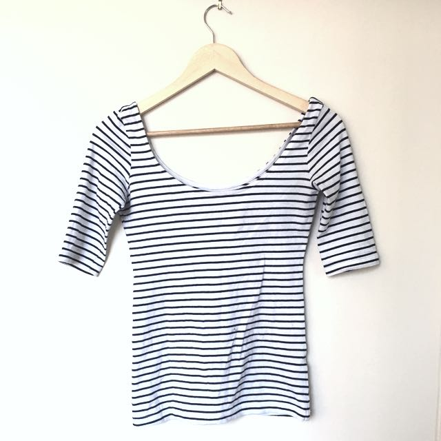 Striped Ballerina Garage Top