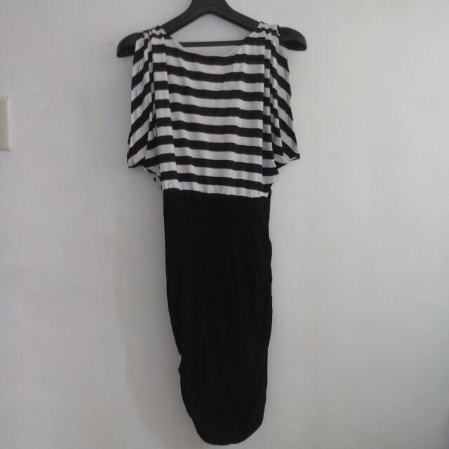 Striped Dress Sexy Back