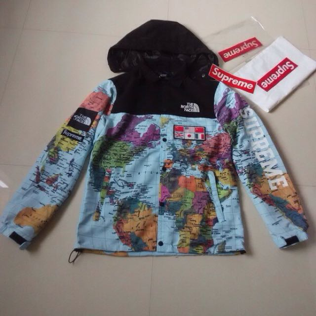 Sale Supreme X North Face Expedition Coaches Jacket Map M L Xl