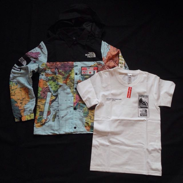 Supreme x the north face tnf world map jacket shirt mens fashion supreme x the north face tnf world map jacket shirt mens fashion clothes on carousell gumiabroncs Choice Image
