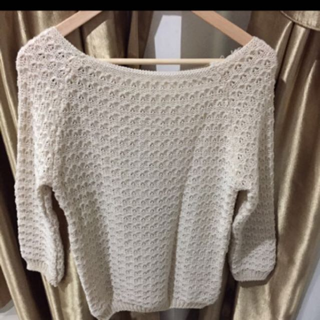 Sweater Wol Broken White