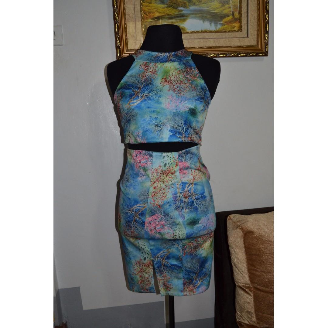Terno Crop Top Skirt