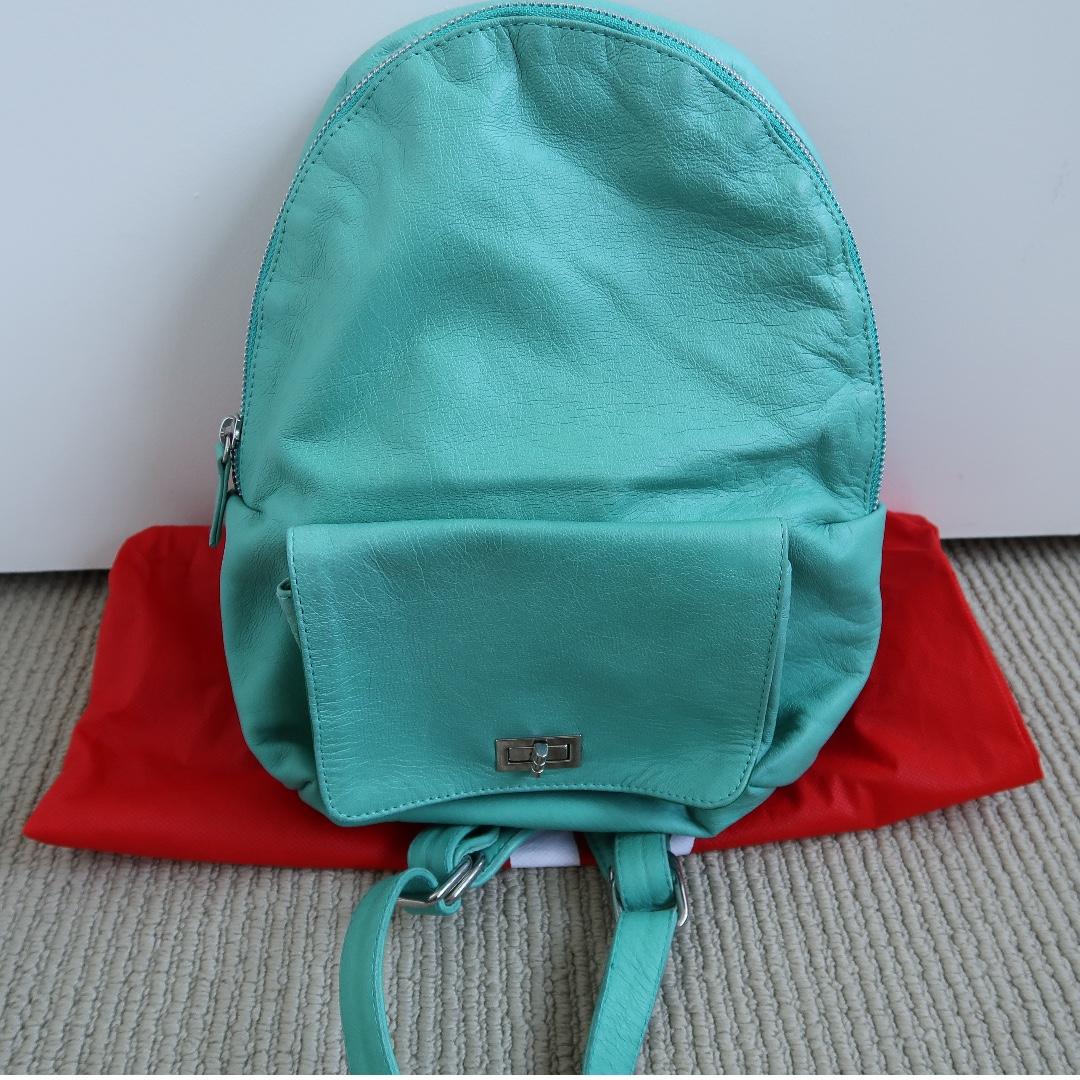 Tiffany's Blue Leather Mini Backpack